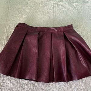 American Girl Faux Leather Skirt 6